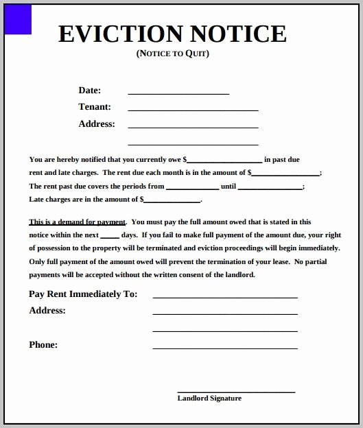 Free Eviction Notice Template Fresh Eviction Notice Template New York State