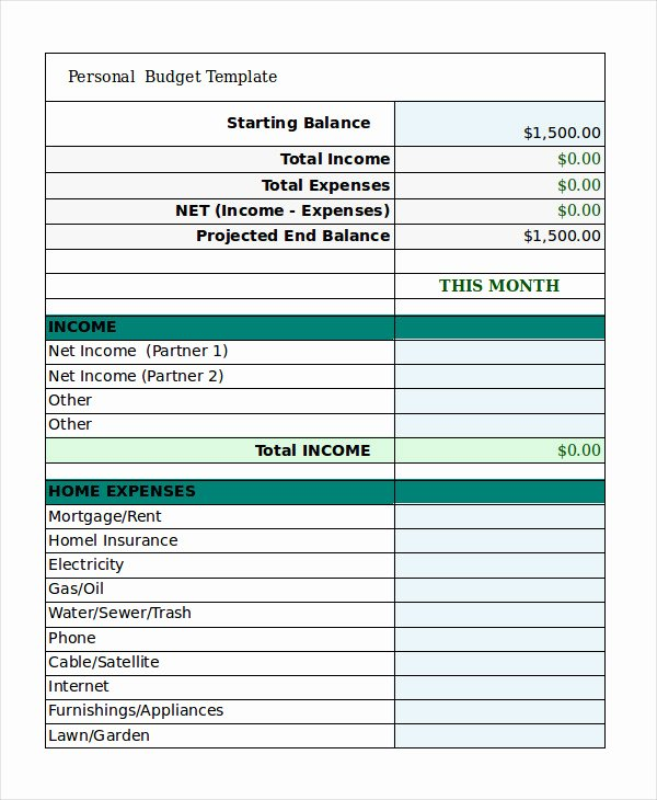 Free Excel Budget Template Awesome Free Personal Bud Template 9 Free Excel Pdf