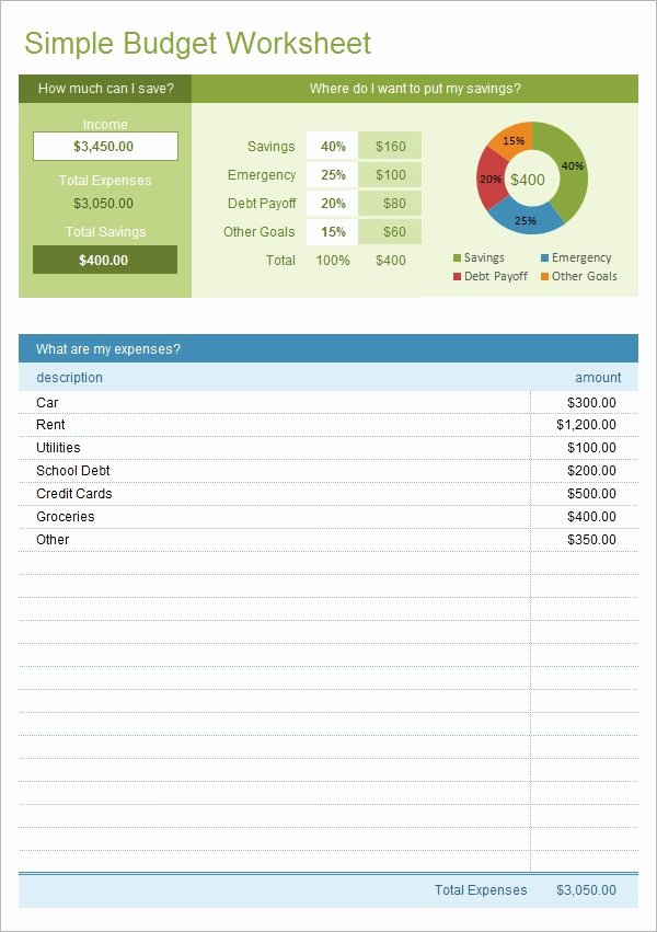 Free Excel Budget Template New Simple Bud Template 14 Download Free Documents In