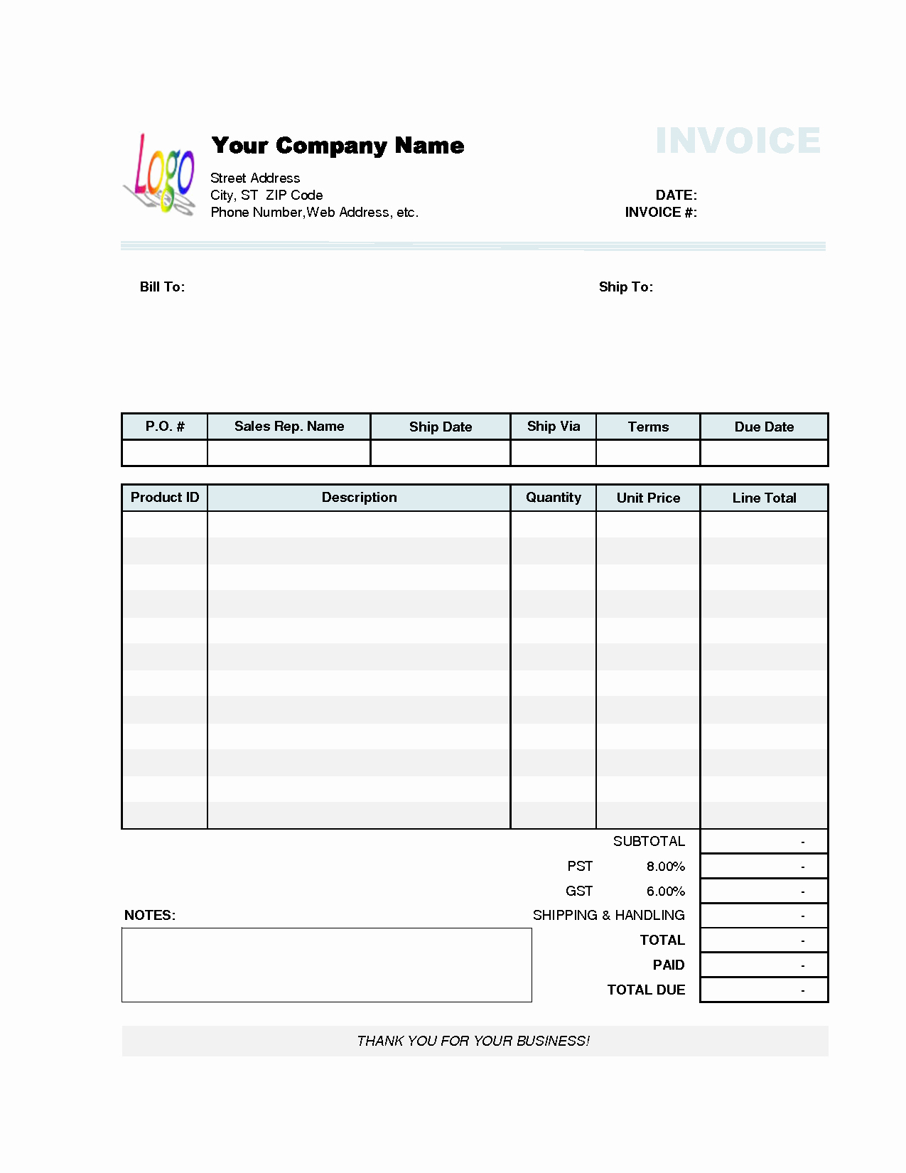 Free Excel Invoice Template Beautiful Invoice Template Excel 2010
