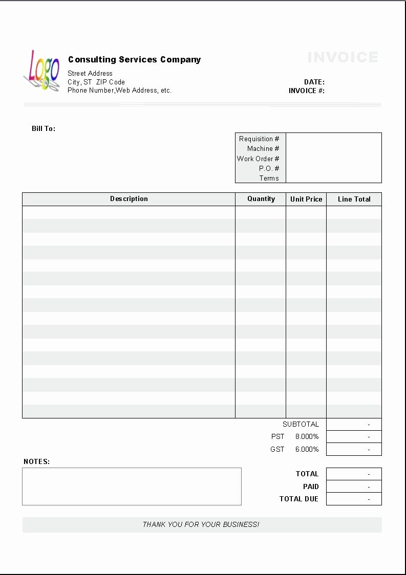 Free Excel Invoice Template Best Of Excel Based Consulting Invoice Template Excel Invoice