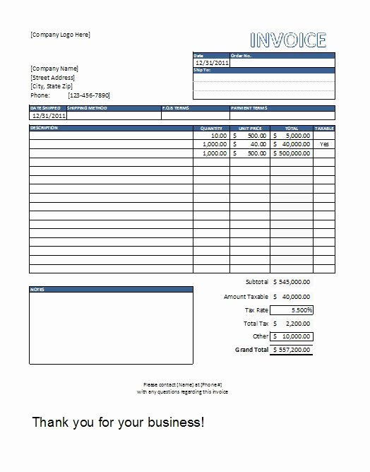 Free Excel Invoice Template Best Of Excel Sales Invoice Template Free Download