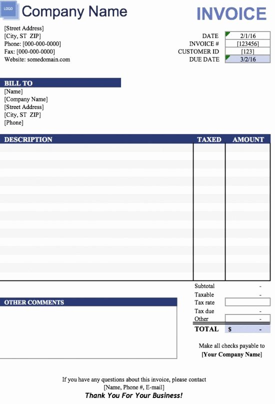Free Excel Invoice Template Fresh 19 Free Invoice Template Excel Easy to Edit and Customize