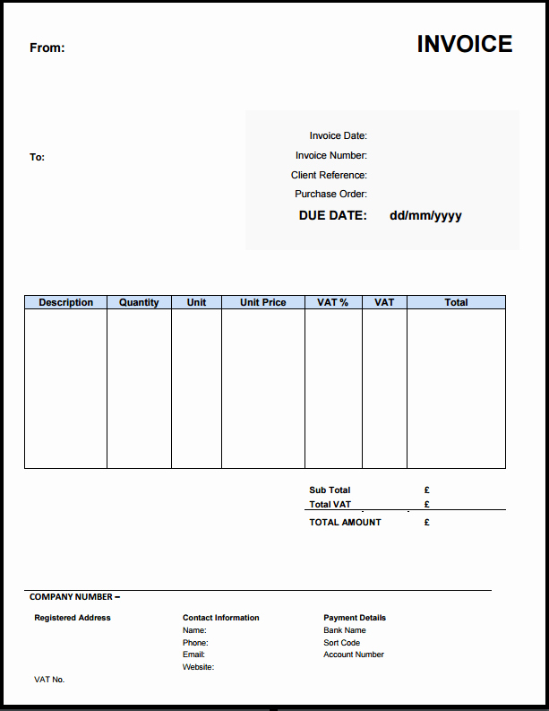 Free Excel Invoice Template New Free Invoice Template Uk Use Line or Download Excel & Word
