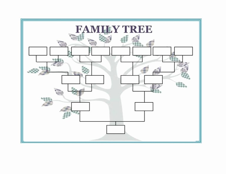 Free Family Tree Template Word Beautiful Family Tree Template Word