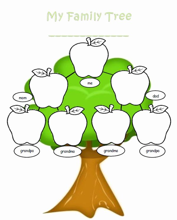 Free Family Tree Template Word Unique Blank Family Tree for Kids Clipart Best