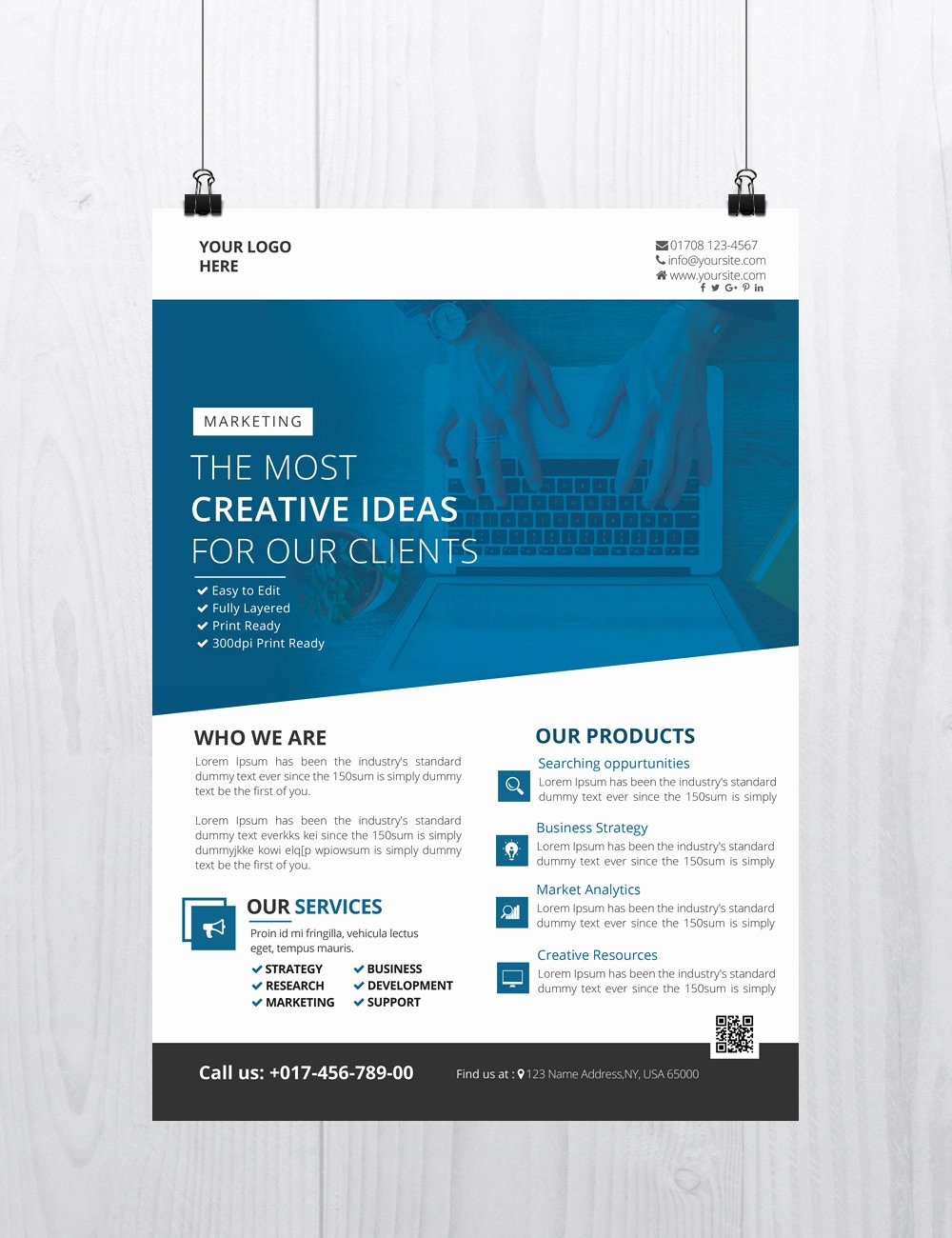 Free Flyer Template Downloads Beautiful Creative Business Download Free Psd Flyer Template