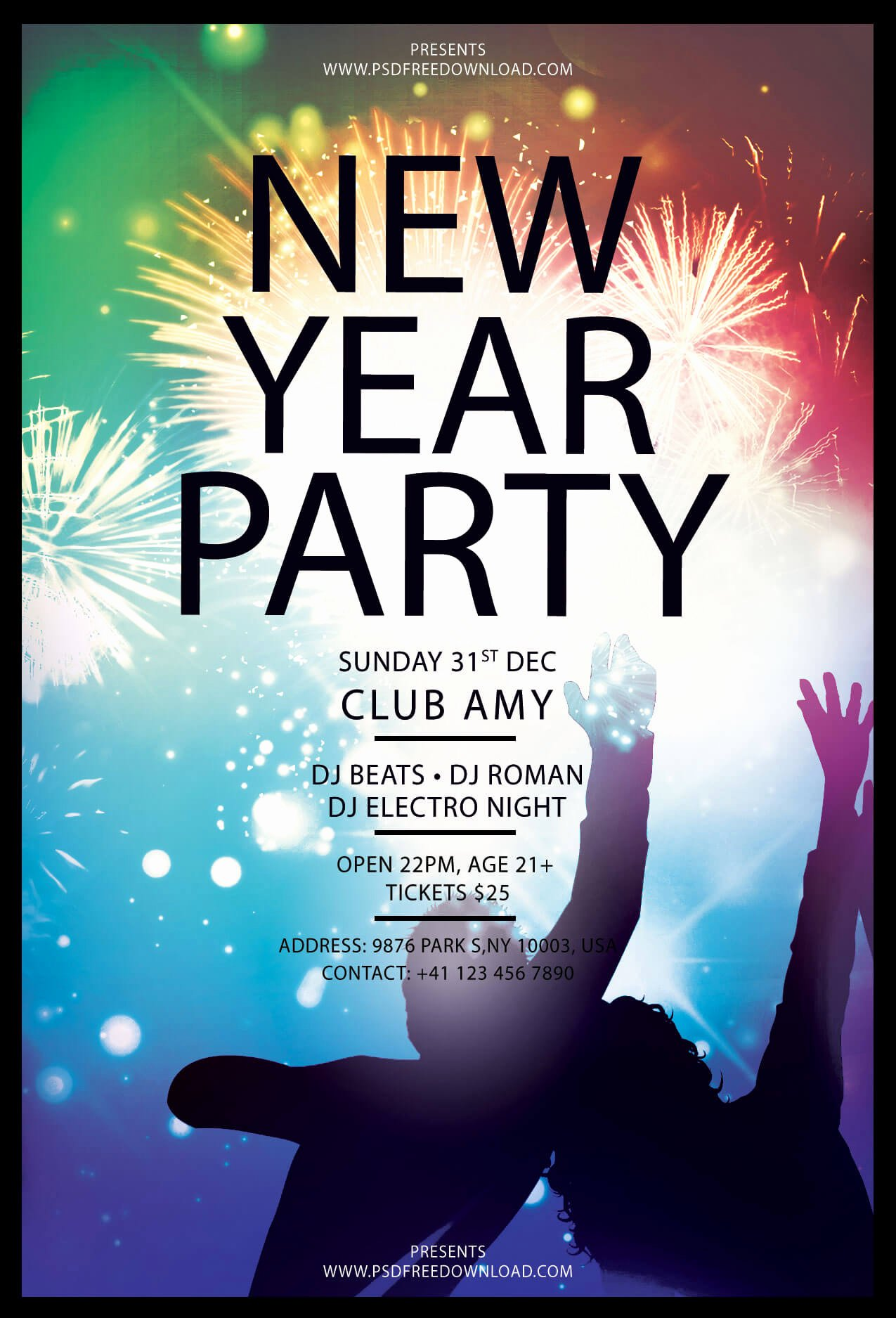 Free Flyer Template Downloads Best Of New Year Party Flyer Free Template Psd