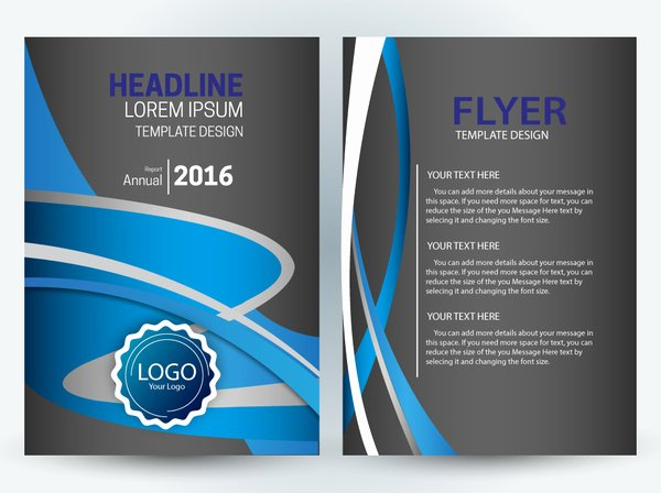 Free Flyer Template Downloads New Vector Editable Flyer Template Free Vector