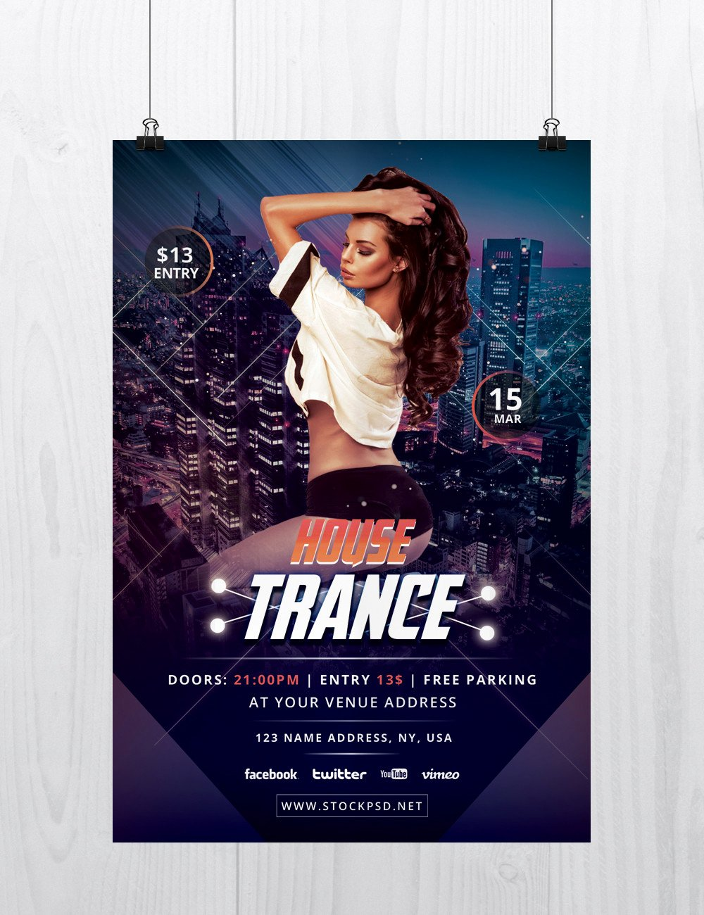 Free Flyer Template Downloads Unique House Trance Download Free Psd Flyer Template Free Psd