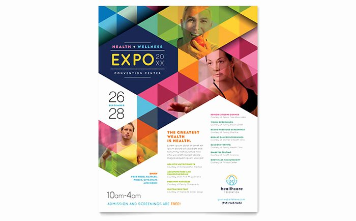 Free Flyer Templates for Word New Health Fair Flyer Template Word & Publisher