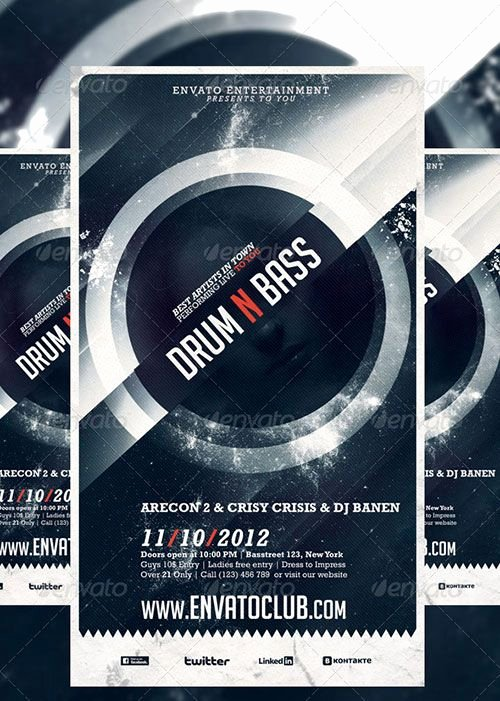 Free Flyers Templates Downloads Best Of Drum N Bass Electro Music Party Club Flyer Poster Template