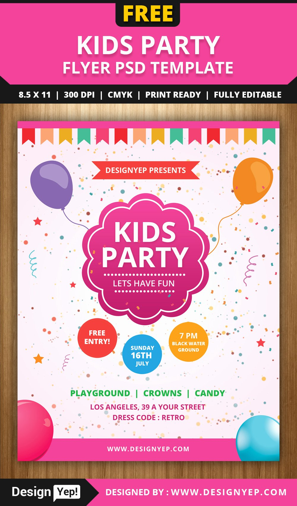 Free Flyers Templates Downloads Best Of Free Kids Party Flyer Psd Template Designyep