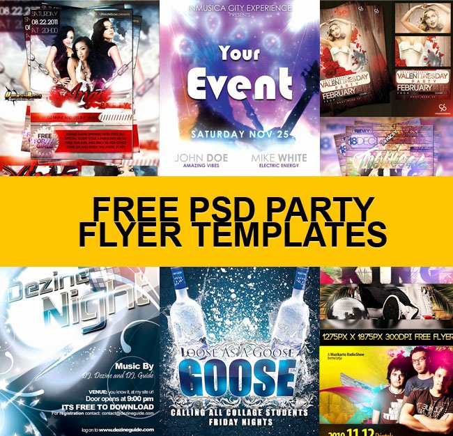 Free Flyers Templates Downloads Lovely Download 30 Free Psd Party Flyer Templates
