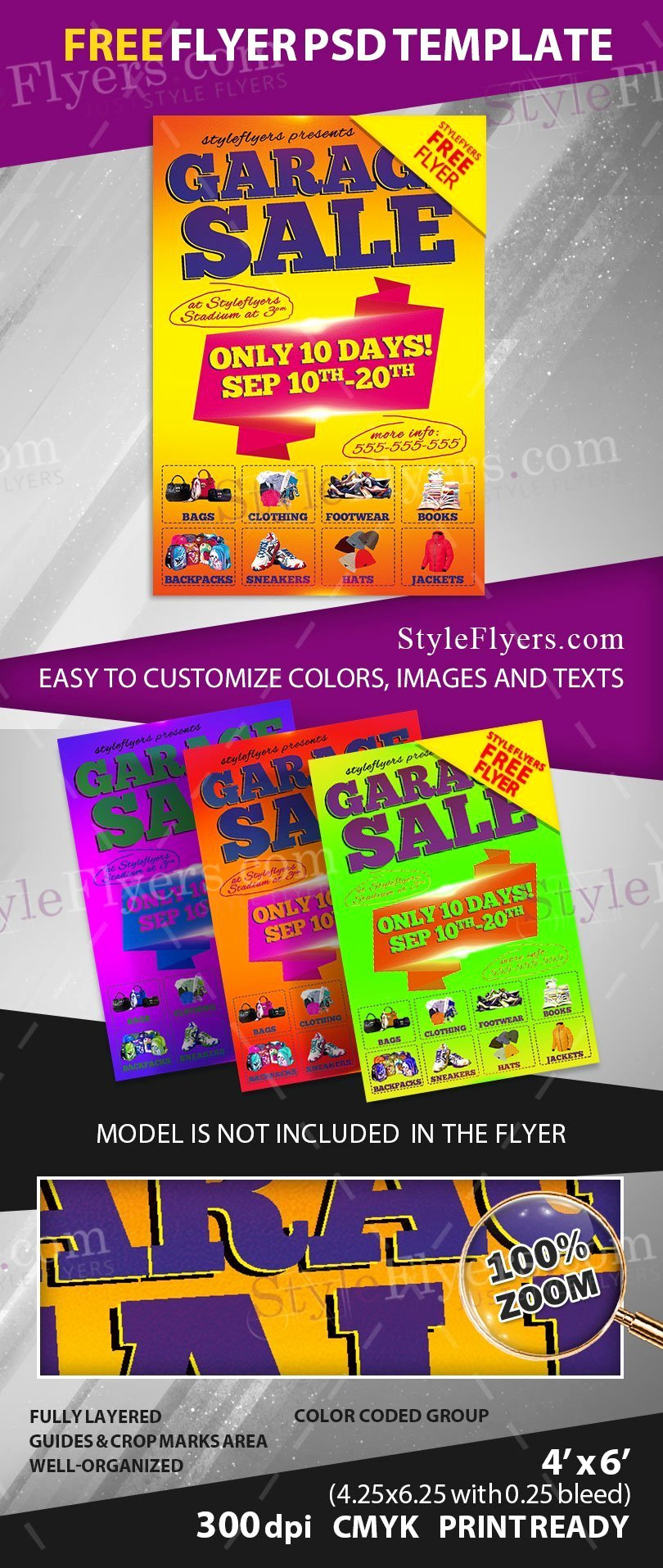 Free Flyers Templates Downloads Lovely Garage Sale Free Psd Flyer Template Free Download