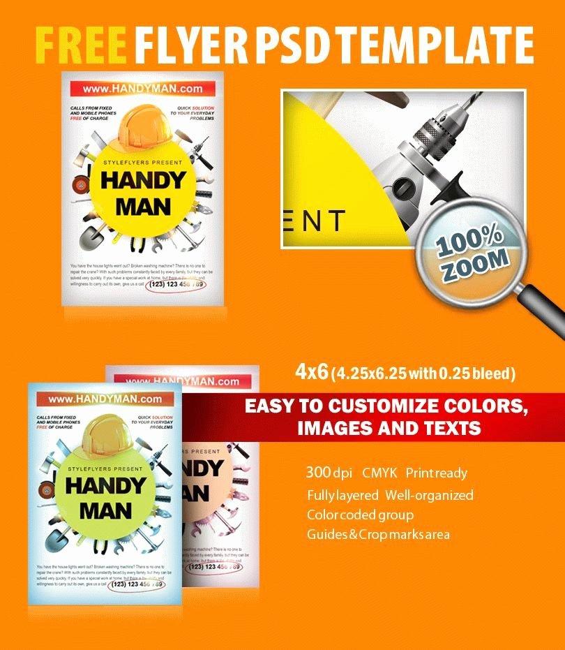 Free Flyers Templates Downloads Unique Handyman Psd Flyer Template Free Download 8079 Styleflyers