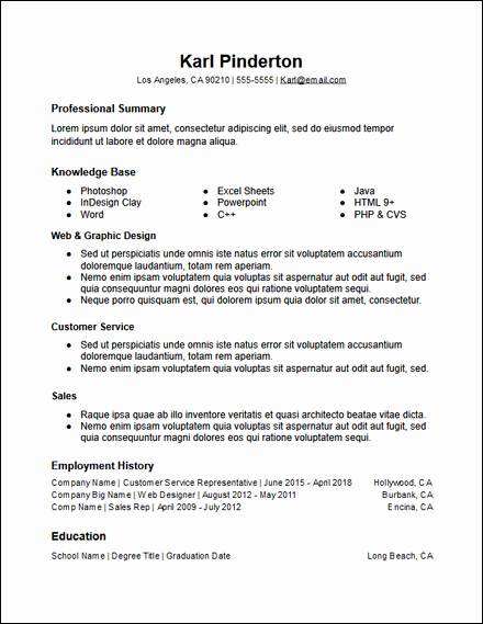 Free Functional Resume Template Awesome Free Resume Templates Hirepowers