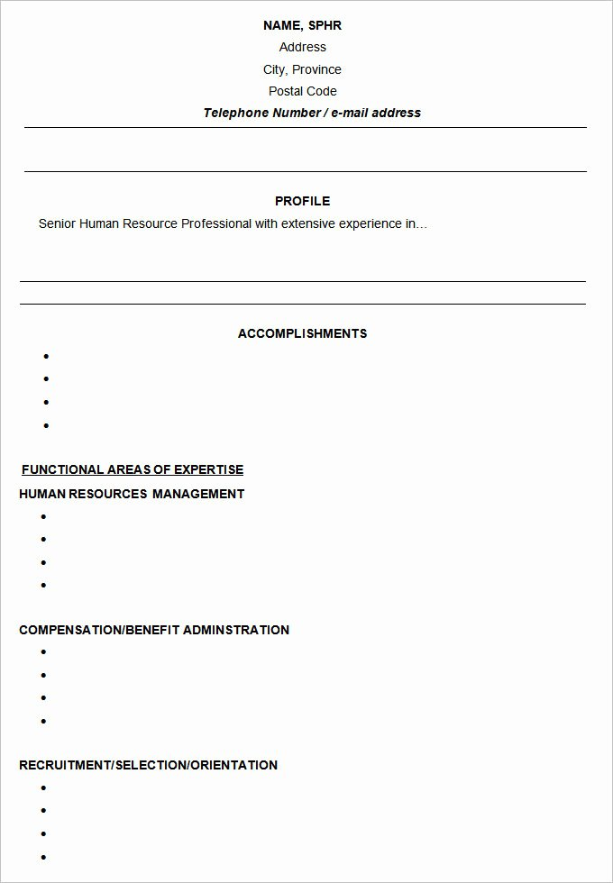 Free Functional Resume Template Awesome Functional Resume Template – 15 Free Samples Examples