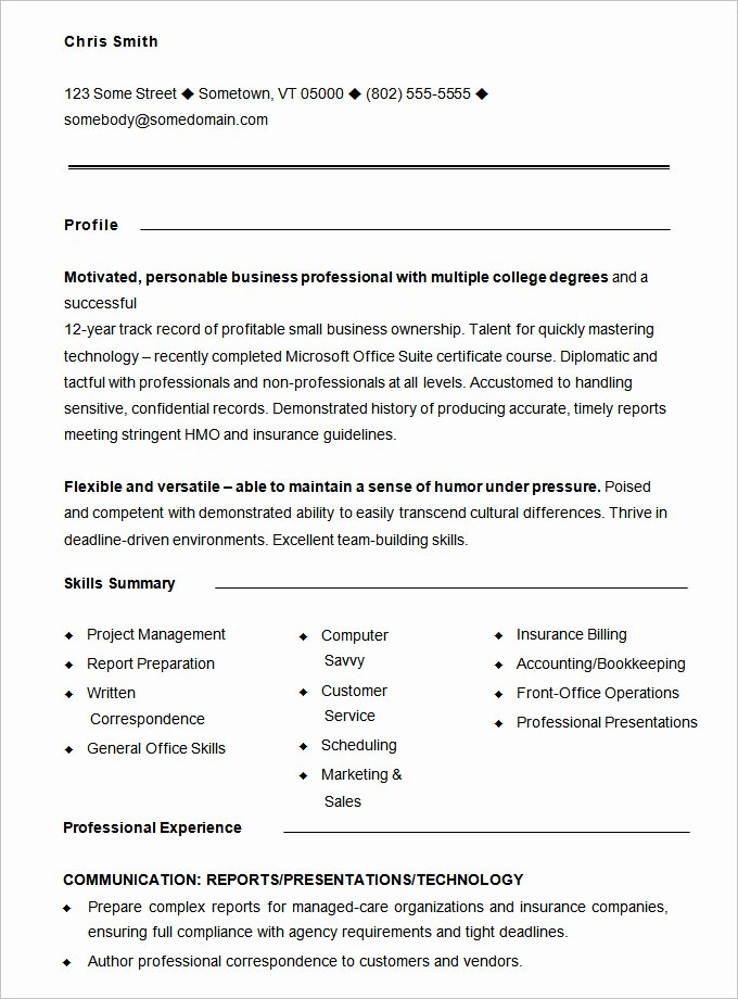 Free Functional Resume Template Best Of Functional Resume Template – 15 Free Samples Examples