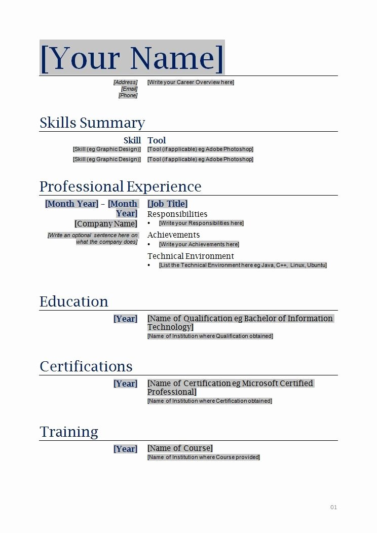 Free Functional Resume Template Inspirational Free Blanks Resumes Templates