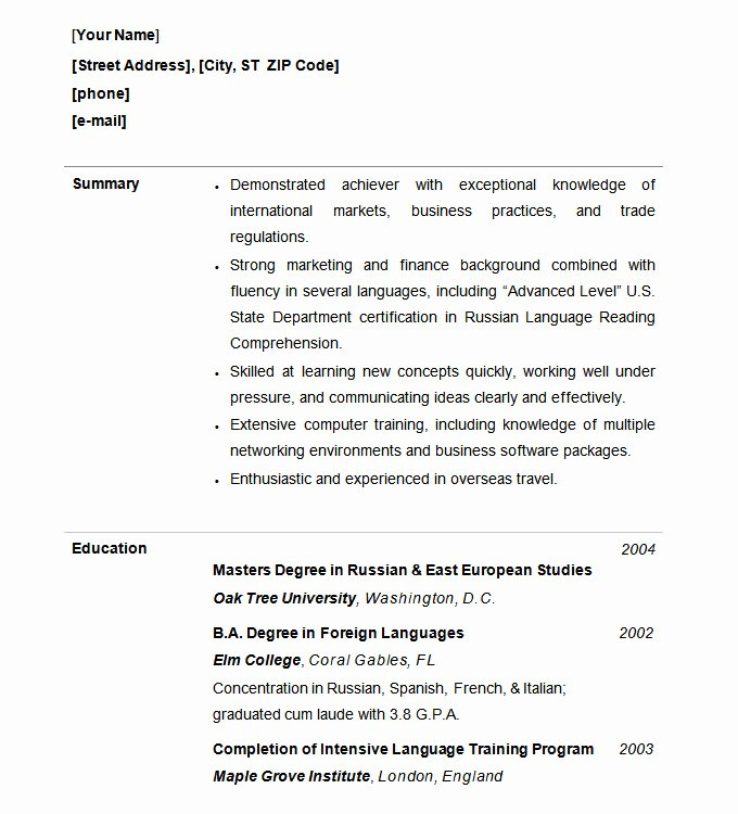 Free Functional Resume Template Lovely Functional Resume Template – 15 Free Samples Examples