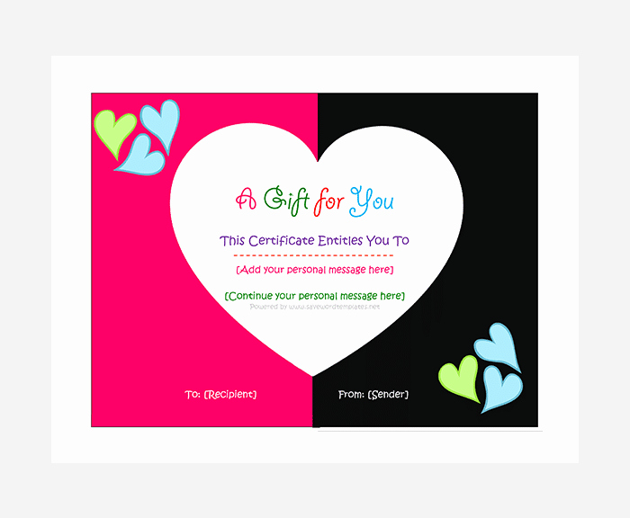 Free Gift Certificate Template Word Beautiful 44 Free Printable Gift Certificate Templates for Word & Pdf