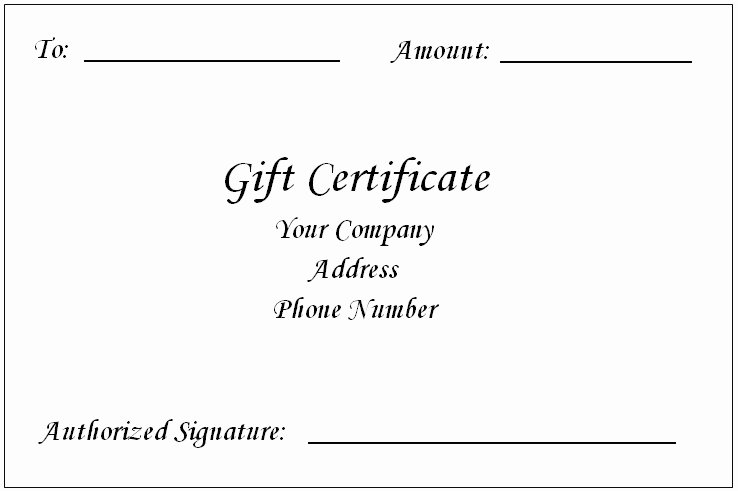 Free Gift Certificate Template Word Beautiful Gift Certificate Template Word