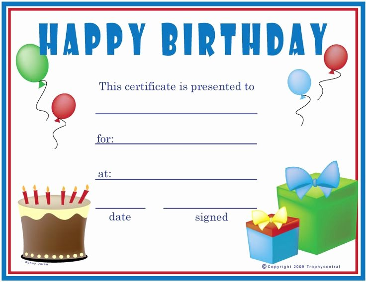 Free Gift Certificate Template Word Best Of Free Birthday Boy Certificates Certificate Free