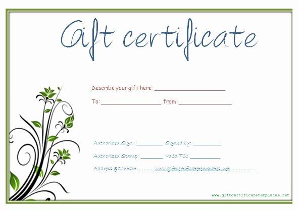 Free Gift Certificate Template Word Elegant 34 Gift Certificate Template Free Download