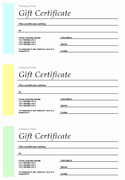 Free Gift Certificate Template Word Fresh 11 Free Gift Certificate Templates – Microsoft Word Templates