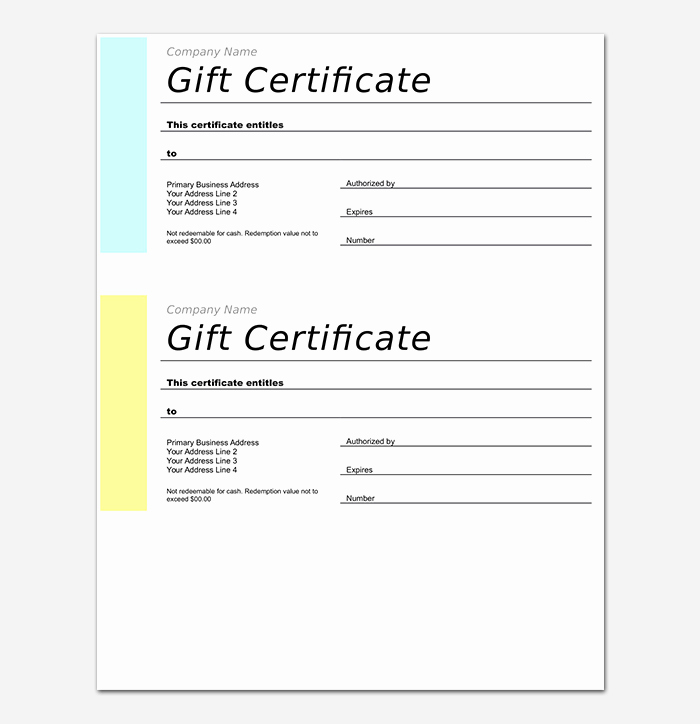 Free Gift Certificate Template Word Fresh 44 Free Printable Gift Certificate Templates for Word & Pdf
