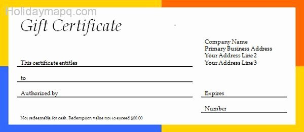 Free Gift Certificate Template Word Fresh Free T Certificate Template Holidaymapq