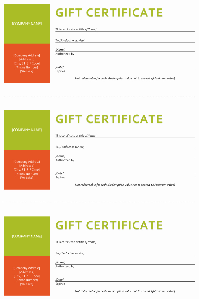 Free Gift Certificate Template Word Fresh Gift Certificate Template Sample Gift Certificate