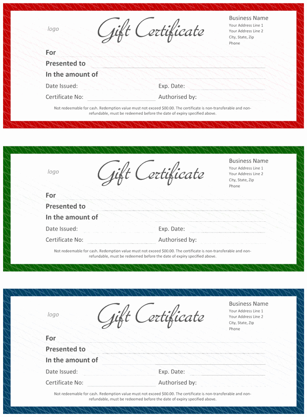Free Gift Certificate Template Word Fresh Gift Certificate Template Word