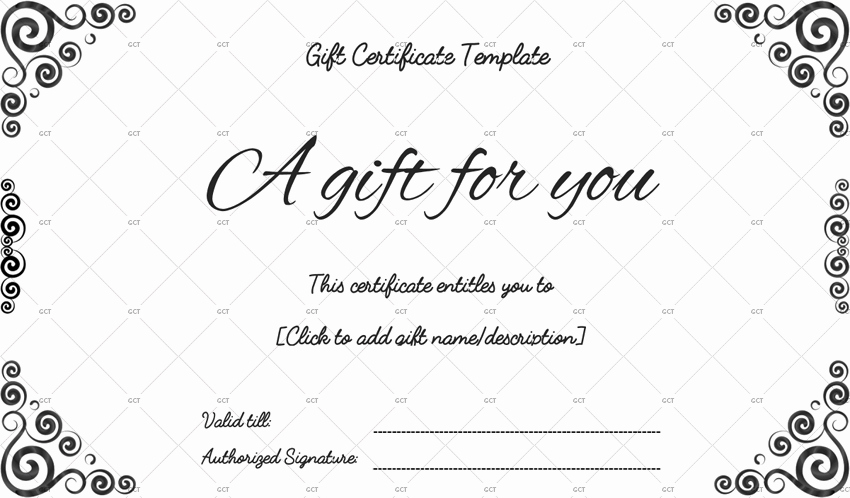 Free Gift Certificate Template Word Fresh Sna Rounds Gift Certificate Template for Word