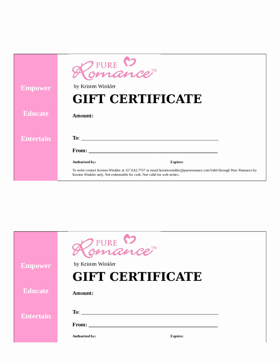 Free Gift Certificate Template Word Luxury Blank Gift Certificate Template Word