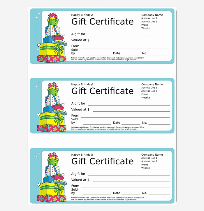 Free Gift Certificate Template Word Unique 44 Free Printable Gift Certificate Templates for Word & Pdf