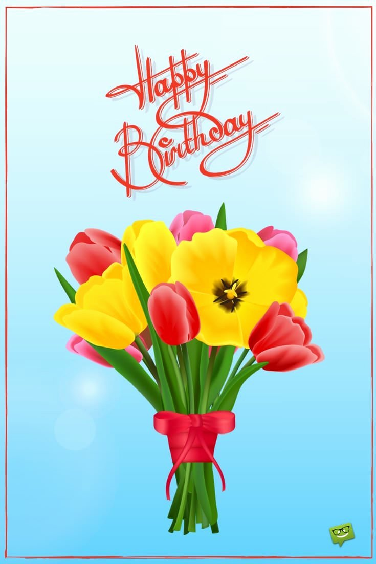 Free Happy Birthday Picture Beautiful Floral Wishes Ecards