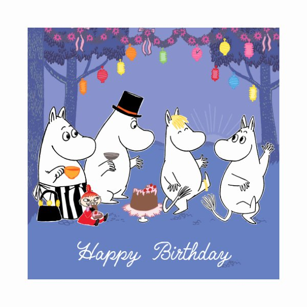 Free Happy Birthday Picture Luxury Moomin Card – Birthday Party Square H