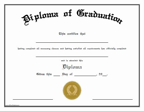 Free High School Diploma Templates Awesome High School Diploma Template with Seal Free Download