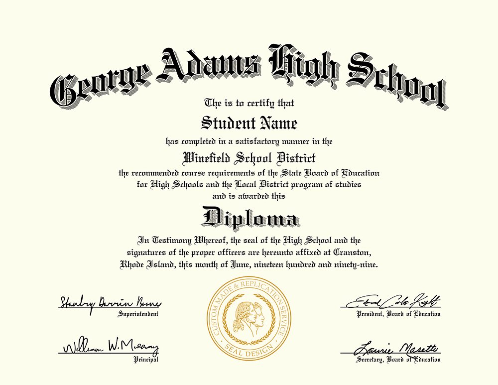 Free High School Diploma Templates Awesome Us High School Diploma Style 4