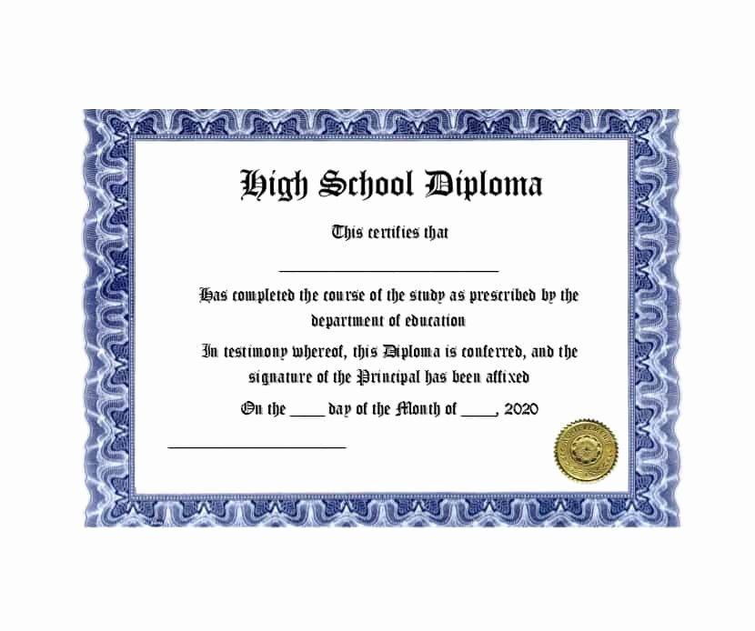Free High School Diploma Templates Beautiful 30 Real & Fake Diploma Templates High School College