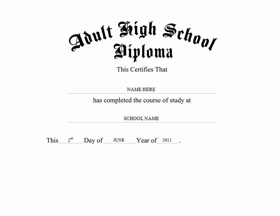 Free High School Diploma Templates Beautiful Adult High School Diploma Free Templates Clip Art