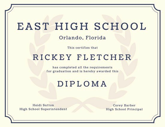 Free High School Diploma Templates Best Of 60 Free High School Diploma Template Printable