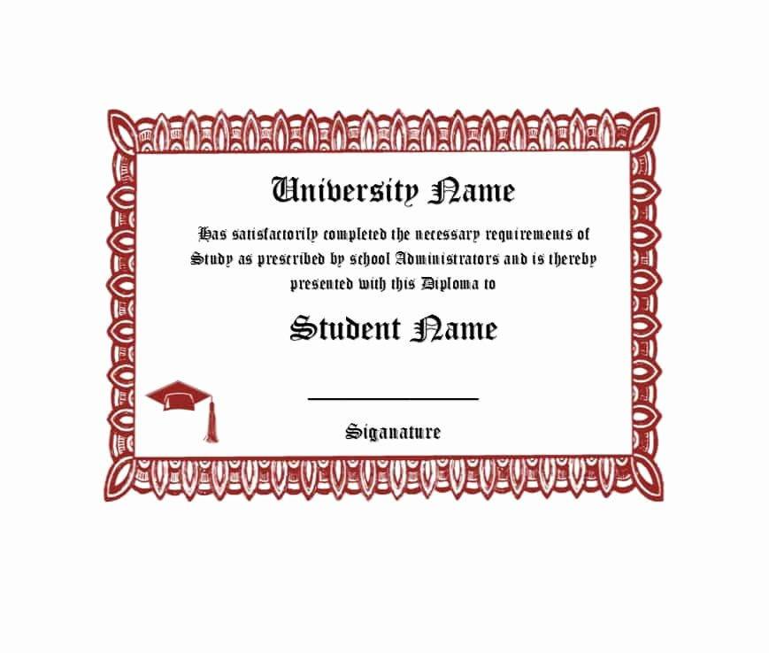 Free High School Diploma Templates Elegant 30 Real & Fake Diploma Templates High School College