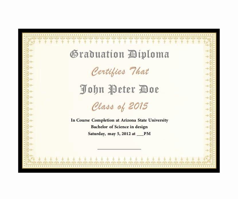 Free High School Diploma Templates Inspirational 30 Real & Fake Diploma Templates High School College