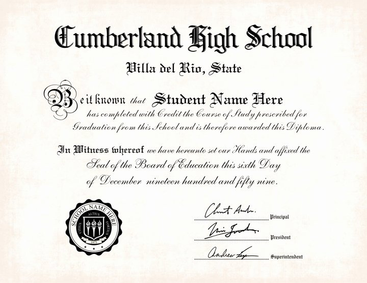 Free High School Diploma Templates Lovely 25 High School Diploma Template 2019 Free Doc