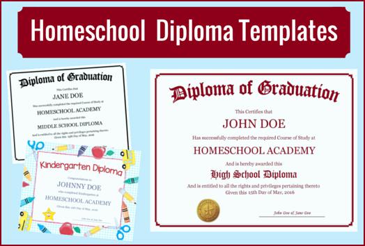 Free High School Diploma Templates Luxury Homeschool Diploma Templates Free for Homeschoolers