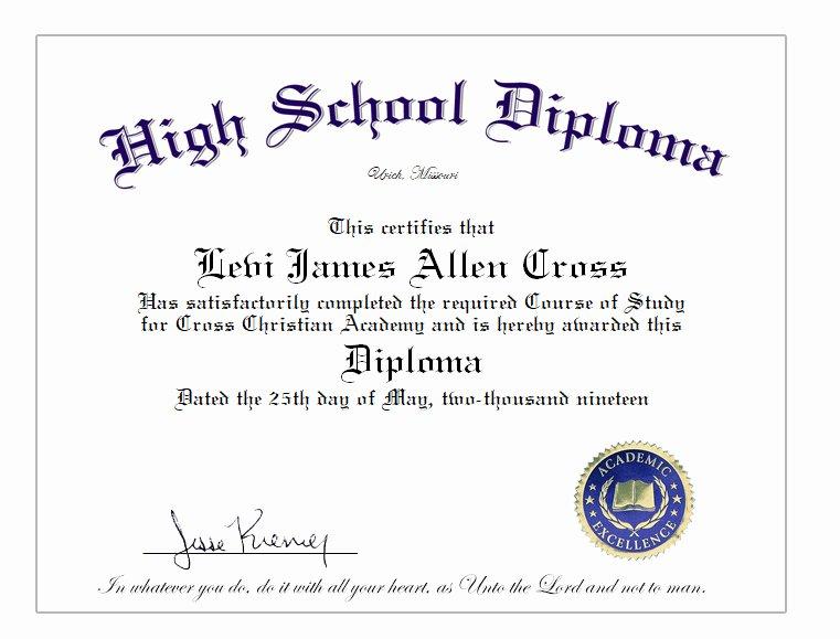 Free High School Diploma Templates New High School Home School Diploma Cover & Diploma Sheet $39 10