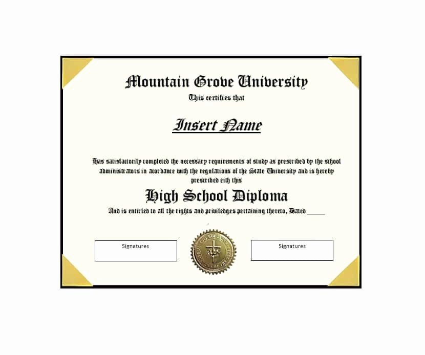 Free High School Diploma Templates Unique 30 Real & Fake Diploma Templates High School College